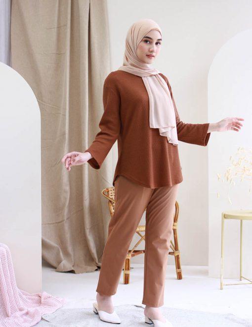Ironless blouse muslimah uniqlo calaqisya